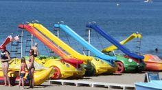 Hidropedales Para divertirse en familia! Pueden ir hasta 5 personas dando un paseo por la costa disfrutando del paisaje y el mar. Ideal para niños.