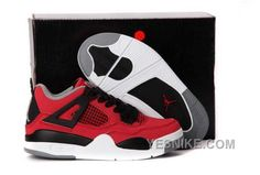 Now Buy Discount Nike Air Jordan 4 Kids Fire Red White Black Grey Shoes Save Up From Outlet Store at Footlocker. Kids Clothes Online Shopping, Cheap Kids Clothes Online, Kids Shoes Online, Nike Kids Shoes, Jordan Shoes For Kids, New Jordans Shoes, Michael Jordan Shoes, Kids Jordans, Air Jordan Shoes