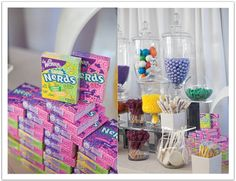 80's Candy Bar! Modern Luxe La Jolla  Wedding by Alchemy Fine Events: The ultimate dessert bar! www.alchemyfineevents.com