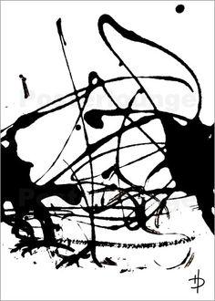 30x40cm kunst malerei schwarz wei home bild deko design abstrakt modern unikat bilder. Black Bedroom Furniture Sets. Home Design Ideas
