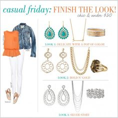 Casual Friday: Finish the Look, chic pieces under 50 dollars!