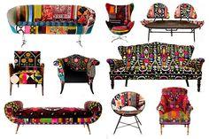 Reupholstered modernist designs by  Bokja (Hoda Barudi and Maria Hibriall)