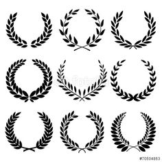 Vettoriale: Laurel Wreaths