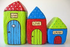 Love, Live, Laugh painted houses