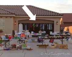 25 Trendy Diy Clothes Rack For Garage Sale Money Garage Sale Signs, Yard Sale Signs, Garage Sale Pricing, For Sale Sign, Little Rock, Diy Garage, Garage Doors, Garage Ideas, Garage Sale Organization