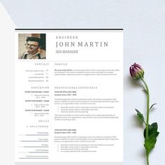 Word Resume & US Letter Template by Best_slide on College Resume Template, Best Resume Template, Cv Template, Design Templates, Resume Tips, Resume Cv, Resume Writing, Resume Words Skills, Free Resume Examples
