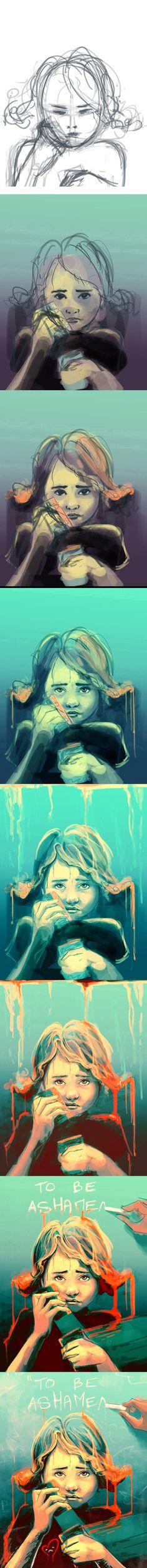 WIP I promise I won't cry by `AquaSixio on deviantART
