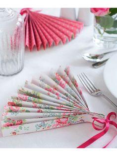 Make a pretty patterned paper fan