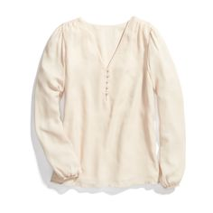 Stitch Fix Winter Essentials: Brighten up the dark winter blues with a creamy, romantic blouse. Tuck it into a skirt or wear it with denim on casual Friday.