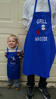 Father/Mother and Son/Daughter Matching BBQ Apron - Custom Men's Apron - Father's Day Gift - Grilli Daddy Day, Daddy And Son, Father And Son, Grill Apron, Bbq Apron, Men's Apron, Funny Aprons For Men, Cute Aprons, Diy Father's Day Gifts Easy
