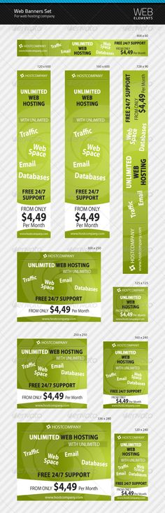 Web Banners Set for Web Hosting Company | $4