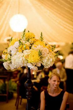 Wedding, Flowers, Ceremony, Yellow - Photo by One Love Photography