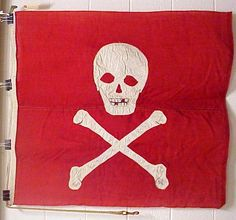 Jolly Roger flown by USS Ranger Jolly Roger Flag, Famous Pirates, Henry Morgan, Captain Jack, Treasure Island, Skull And Crossbones, Pirate Flags, Museum Collection, Pirates Of The Caribbean