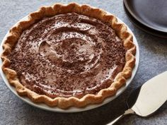 This no-cook pie has rich chocolatey flavor thanks to low-fat milk and fat-free frozen whipped topping.