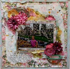"""""""Home"""" layout by Bernii Miller for BoBunny using the Soiree collection and decoupage paper. #BoBunny @bernii"""
