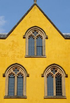 Ashton Court, Bristol. The colour looks very Mediterranean but it is actually a traditional ochre lime wash.