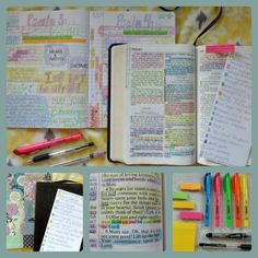 There are free bible journal pages, uplifting scripture images, and devotionals available for all to use! Color Coding Bible scripture during Bible studies Bible Study Tips, Bible Study Journal, Scripture Study, Uplifting Scripture, Scripture Images, Bible Art, Quest Study Bible, Soap Bible Study, Bible Journaling For Beginners