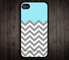 chevron iPhone 4 Case, iphone 4s case, gray chevron iPhone black Hard Case for iphone 4 4s. $8.99, via Etsy.