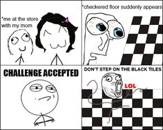 And now there's checkered floors at school :)