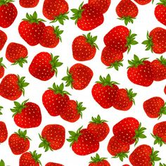 Strawberry seamless pattern | Free Vector #Freepik #freevector #pattern #food #design #summer White Background Wallpaper, Female Lips, Doodle, Strawberry Garden, Nails Design With Rhinestones, Colorful Fruit, Summer Wallpaper, Food Backgrounds, Fruit Pattern