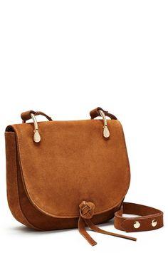 Elizabeth and James  Zoe  Suede Saddle Bag Fashion Bags 9c6e456641d47