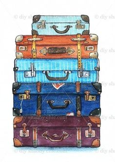 Luggage is the best think in travel. I have used many travel luggage some of good and some of comfortable and some of are not comfortable. Now I share some best travel luggage for travler. Luggage is the best t Watercolor And Ink, Watercolor Paintings, Watercolor Projects, Best Travel Luggage, Kids Luggage, Luggage Bags, Travel Backpack, Tote Bags, Travel Bags