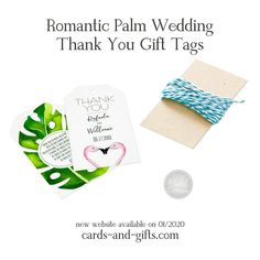 Our irresistible Romantic Palm Wedding Thank You Gift Tags are amazingly easy to personalize. They fit perfectly with all weddings and with their words they become exclusive and unique. With their words of thanks they tell their guests how happy they are that they have celebrated with them. Your guests will be delighted and their wedding will be unforgettable. Do not hesitate to contact us if you wish a custom-made product or a special request.