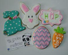 Diseños sencillos que les enseñé a las chicas en el taller de hoy!!! Todo un Éxito! #easter #eastercookies😍❤🍪🐼🐇🐰 #mycookiecreations #cookies