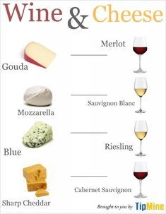 You don't have to be a culinary genius to pair wine and cheese -- try these four common wines and cheeses and hone your skills with this infographic.