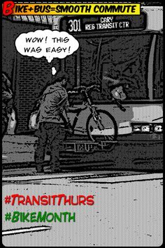 """""""Nothing like a Transit Thursday during National Bike Month!"""" ~NCDOT DDOT needs to put them ON"""