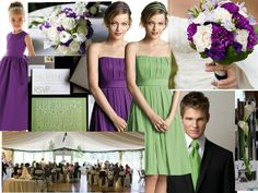 Green and Purple : PANTONE WEDDING Styleboard : The Dessy Group