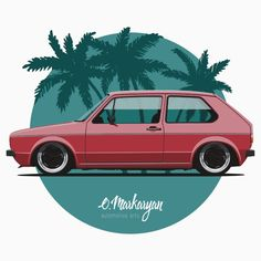 VW Golf mk1 (red)