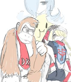 Super Smash bros 4 Rosalina & Luma, Donkey Kong & Sheik
