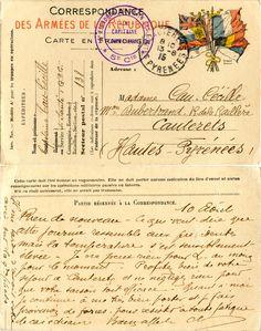 Correspondance des Armées - Capitaine Cau-Cécille pour son épouse à Cauterets le 10 août 1915 (from http://mercipourlacarte.com/picture?/1097/)