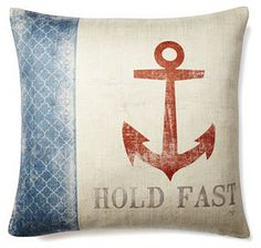 """""""Hold Fast"""" 20x20 Pillow, Multi on shopstyle.com"""