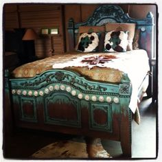 Similar at RusticArtistry.com here: http://rusticartistry.com/product/southwest-turquoise-bed/