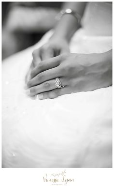 My beautiful bride with her beautiful ring.