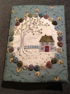 A pretty  journal cover by  Lynette Anderson.