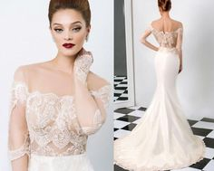 Cheap 2014 Wedding Dresses - Discount Lace Sheer 2015 Wedding ...