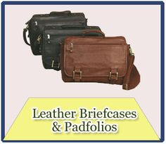 Leather Briefcases and Padfolios
