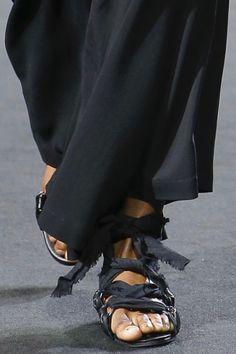 quality design ba157 6920a Sandals detail from Yohji Yamamoto spring 2019 fashion show, via Vogue  Runway app