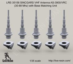 Live Resin 1/35 LRE-35158 SINCGARS VHF Antenna AS-3900/VRC (30-88 Mhz) picclick.com