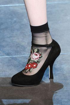 NEED these socks -Dolce & Gabbana F/W 12