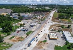 Traffic shifts to the new road and bridge on Arkadelphia road while construction continues to expand to 4 lanes in-between I-59 and Finley Blvd in Birmingham, AL #strategydrones #dronevideo #dronephotos #videography #aerial #aerialphotography