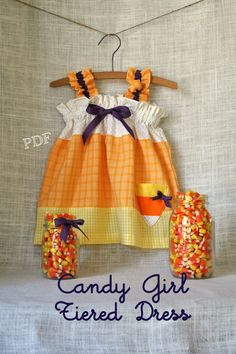 christmas dresses for toddler girls | Christmas Candy Girl Tiered Dress Baby by ... | all things sewing