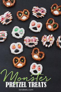 Kids Food Craft Idea: Monster Pretzels Recipe and EASY  Tutorial - landeelu.com