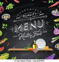 Resultado de imagen para hacer menu con diseno de pizarra gratis