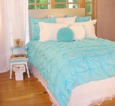 Pucker Turquoise  Girls Bedding Collection