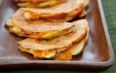The classic combo of apples and sharp cheddar cheese is right at home inside wheat tortillas.