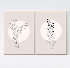 Botanical Art Print/ Set of 2 Wall Art/ Set of Neutral Prints/ Mid Century Modern Minimal Wall Art/Best Selling Minimalist Printable Art Jaune, Cadre Design, Art Minimaliste, Beige Art, Yellow Art, Diy Canvas Art, Printable Wall Art, Printable Designs, Free Printable